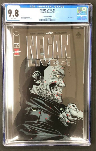 Negan Lives (2020) #1 CGC 9.8 Silver Foil Variant (3701833009)