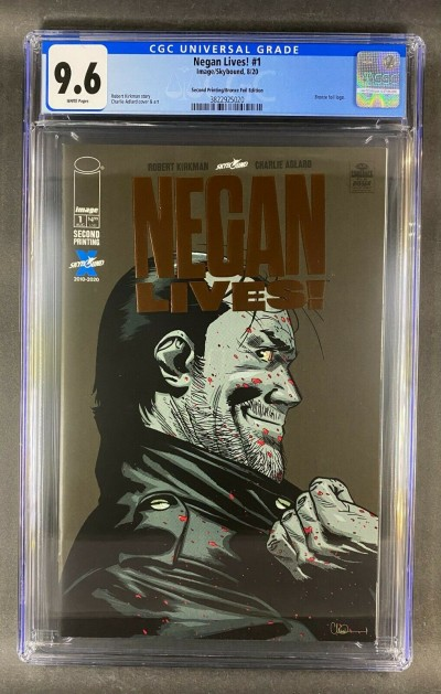 Negan Lives! (2020) #1 CGC 9.6 White Pages Bronze Foil 2nd Printing (3822925020)