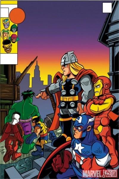 NEW AVENGERS #4 HERO SQUAD VARIANT COVER NM