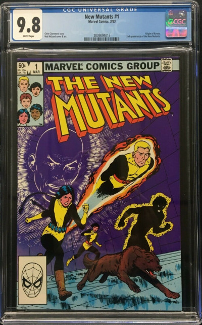 New Mutants (1983) #1 CGC 9.8 white pages 2nd appearance (2009094013)
