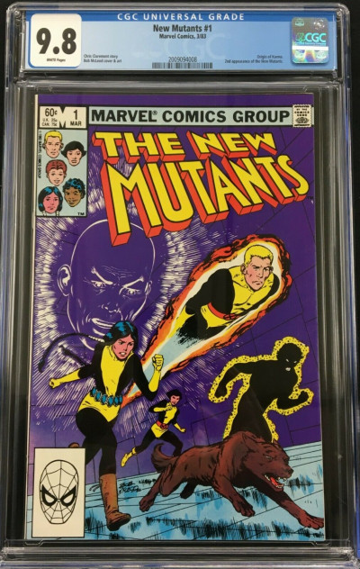 New Mutants (1983) #1 CGC 9.8 white pages 2nd appearance (2009094008)