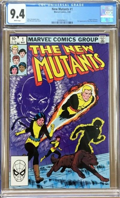 New Mutants (1983) #1 CGC 9.4 white 2nd appearance (2009094023)