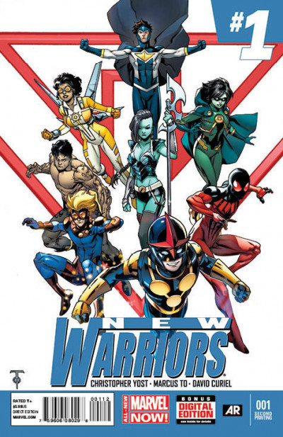 NEW WARRIORS (2014) #1 VF/NM 2ND PRINTING MARVEL NOW!