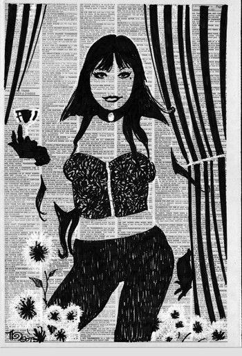 Newspaper Girls #31 Toast of the Town Mike Hoffman Original Art
