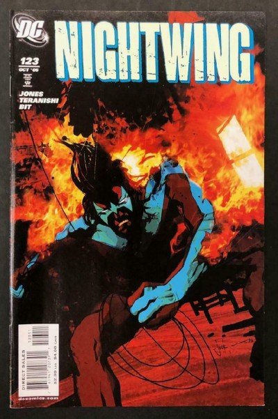 Nightwing (1996) #123 VF+ Jock Cover