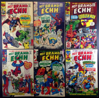 Not Brand Echh (1967) # 3 4 5 6 7 8 complete run of 6 comics Marvel sataire