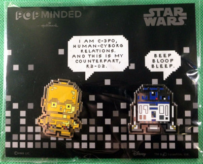 NYCC SDCC 2017 Exclusive Star Wars R2-D2 & C-3PO Hallmark POPMinded PXL8 Pin Set
