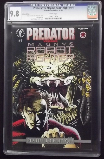 PREDATOR VS MAGNUS ROBOT FIGHTER #1 CGC GRADED 9.8 WHITE PAGES PLATINUM VARIANT