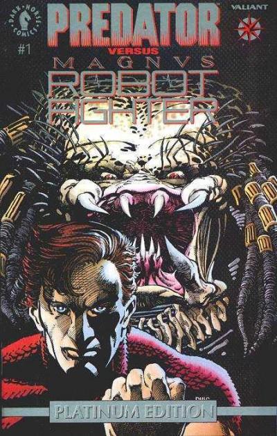 PREDATOR VS. MAGNUS ROBOT FIGHTER (1992) #1 VF/NM PLATINUM EDITION DH VALIANT