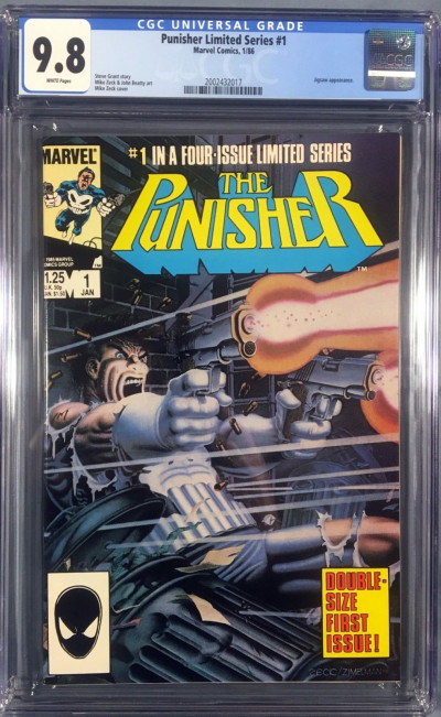 Punisher Limited Series (1986) #1 CGC 9.8 Steve Gerber Mike Zeck (2002432017)