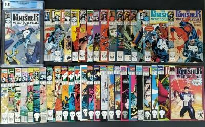 Punisher War Journal #1 1988 CGC 9.8 WP 1-40 Hi grade lot Jim Lee Signed 14&15~