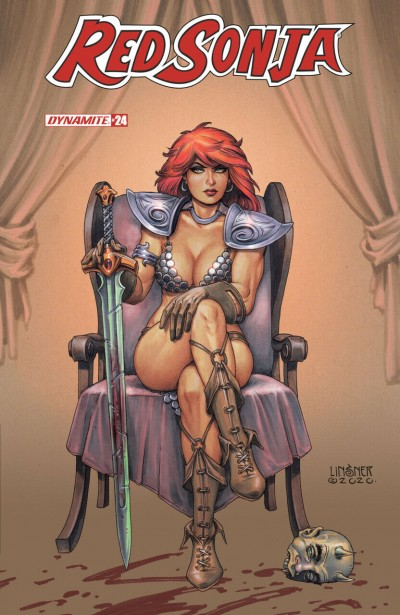 Red Sonja (2019) #24 VF/NM Joseph Michael Linsner Cover Dynamite