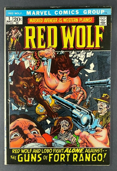 Red Wolf (1972) #1 FN/VF (7.0) 1st App Running Buck / Red Wolf Gil Kane Cover
