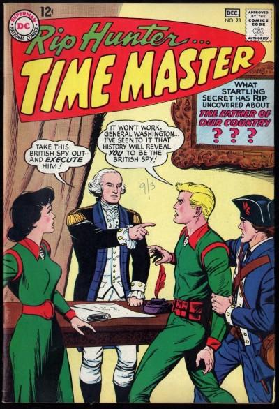 Rip Hunter Time Master (1961) #23 FN/VF (7.0) George Washington cover