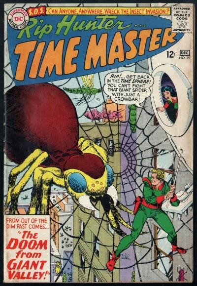 Rip Hunter Time Master (1961) #29 FN (6.0) Gil Kane giant spider cover