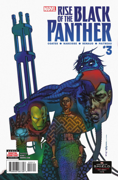 Rise of the Black Panther (2017) #3 VF/NM Stelfreeze Cover Ta-Nehisi Coates