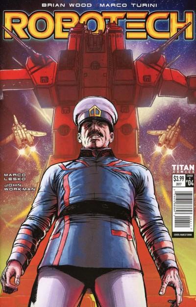 Robotech (2017) #4 VF/NM Marco Turini Cover A 1st Printing Titan Comics