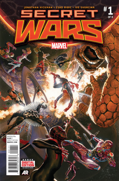 SECRET WARS (2015) #1 OF 8 VF/NM-NM ALEX ROSS COVER + FREE COMIC BOOK DAY #0