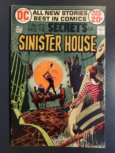 Secrets of Sinister House #6 (1972) VG+ 4.5- Kaluta cover Redondo art|