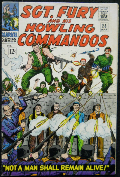 SGT. FURY AND HIS HOWLING COMMANDOS #28 FN