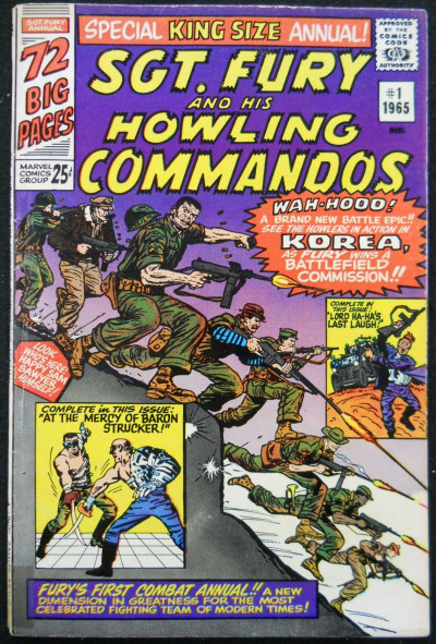 SGT. FURY AND HIS HOWLING COMMANDOS ANNUAL #1 VG+
