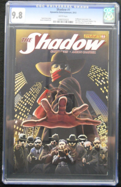 SHADOW (2012) #1 CGC GRADED 9.8 JOHN CASSADY COVER WHITE PAGES