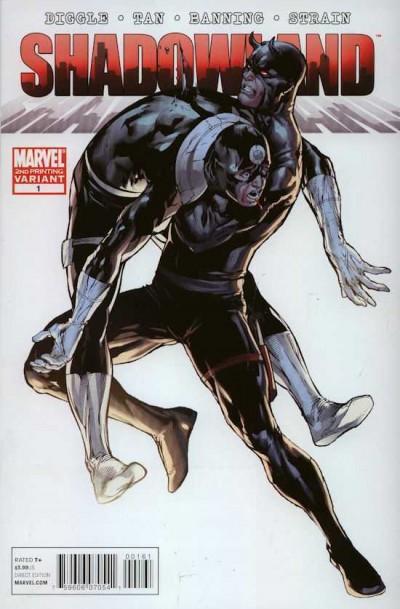 Shadowland (2010) #1 VF/NM 2nd Printing Variant Bullseye Cover