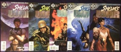 Sheva's War(1998) #1 2 3 4 5 complete set Christopher Moeller DC Helix