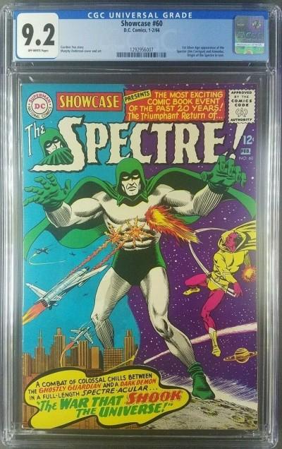 Showcase #60 1966 CGC 9.2 NM- OW 1st App Silver Age Spectre 1292956007|