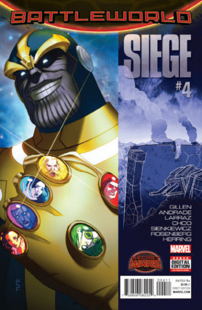 SIEGE (2015) #4 VF+ (8.5) SECRET WARS BATTLEWORLD Thanos cover