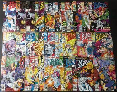 Silver Surfer (1987) #49-75 run of 27 books Infinity Gauntlet & War cross overs