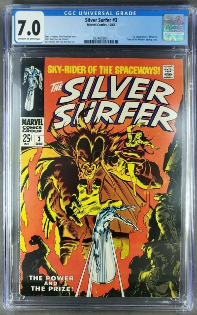 Silver Surfer #3 (1968) CGC 7.0 OWW 1st appearance of Mephisto (3824805001)|