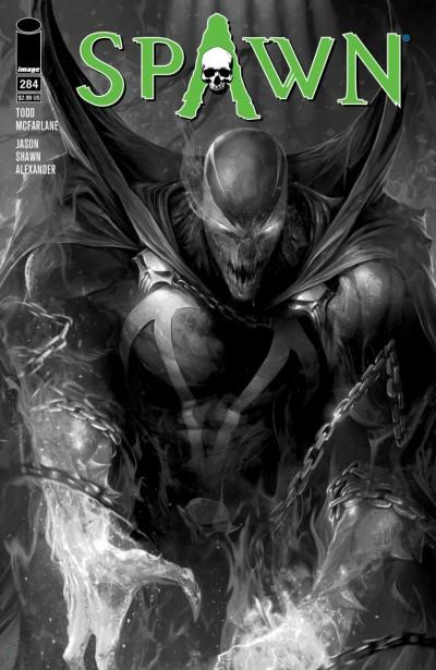 Spawn (1992) #284 VF/NM Francesco Mattina Black & White Cover B Image Comics