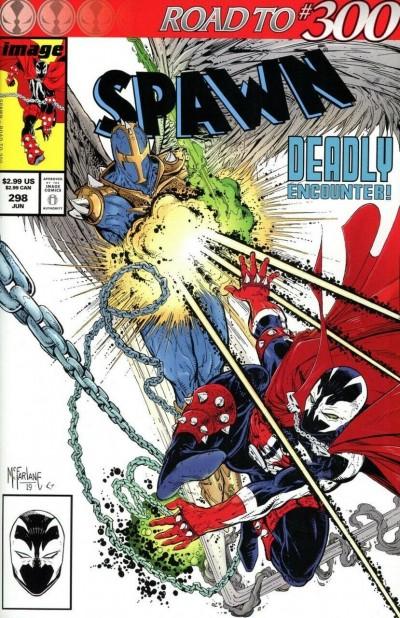 Spawn (1992) #298 VF/NM-NM Todd McFarlane Amazing Spider-man #298 Cover Swipe