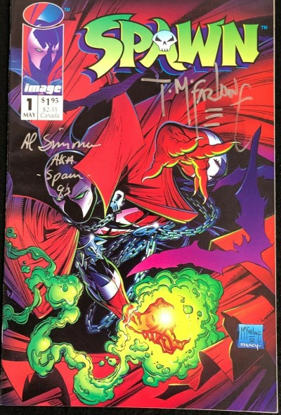Spawn (1992) #1 VF/NM (9.0) signed by Todd McFarlane and Al Simmons