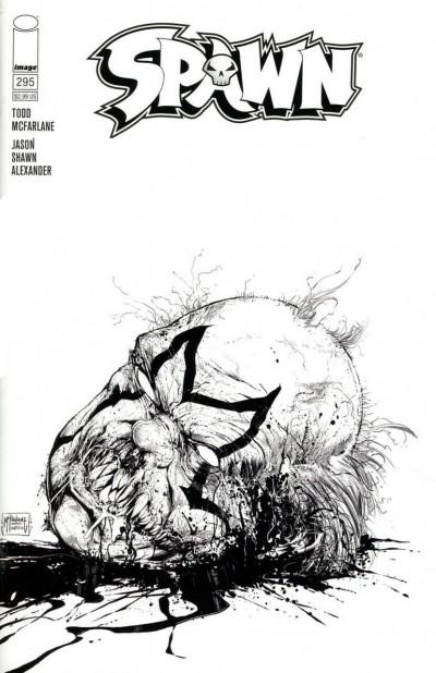 Spawn (1992) #295 VF/NM Francesco Mattina Sketch Cover C Image Comics