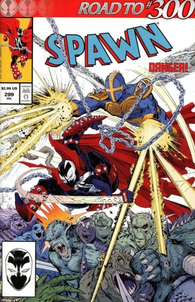 Spawn (1992) #299 VF/NM McFarlane Regular Virgin Black and White Cover Set of 3