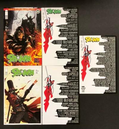Spawn (1992) #312 VF+ (8.5) Covers A B C D McFarlane Barends Sketch LCSD Set