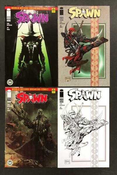 Spawn (1992) #310 VF+ Covers A B C & D Mattina McFarlane Barends Sketch Lot of 4