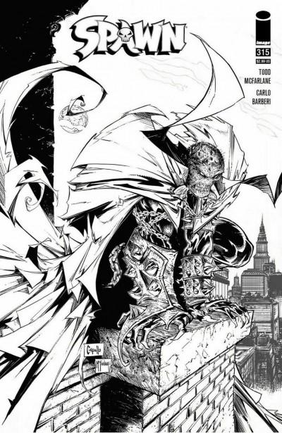 Spawn (1992) #315 VF/NM 1:5 Greg Capullo Variant Cover Image Comics