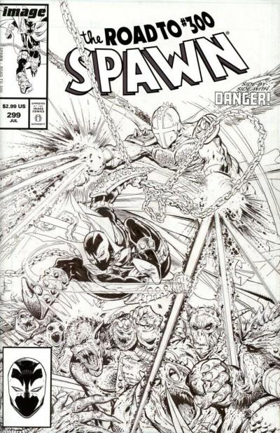 Spawn (1992) #299 VF/NM-NM Todd McFarlane Black & White Cover C Variant