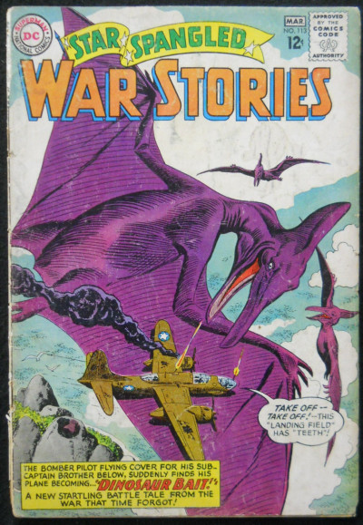 STAR SPANGLED WAR STORIES #113 GD- DINOSAUR ISSUE