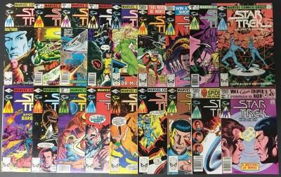 Star Trek (1980) 1-18 VF+ (8.5) complete high grade set Marvel Comics