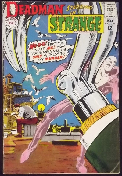STRANGE ADVENTURES #210 VG+ NEAL ADAMS DEADMAN