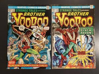 Strange Tales #171 #173 (1973) VG/G lot of 2 Brother Voodoo 1st Baron Samedi|