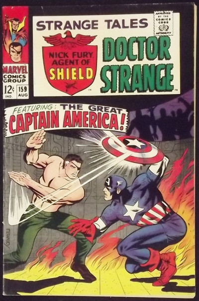 STRANGE TALES #159 FN+ NICK FURY VS CAPTAIN AMERICA JIM STERANKO ART