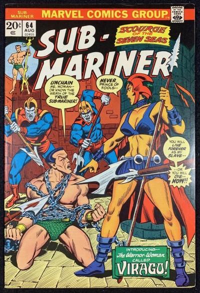 Sub-Mariner (1968) #64 VF (8.0) VS Viragu Worrior Woman