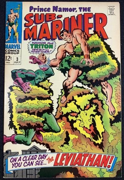 Sub-Mariner (1968) #3 VF- (7.5) Triton cover & story