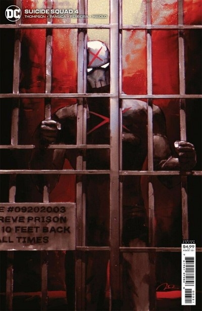 Suicide Squad (2021) #4 VF/NM Gerald Parel Red X Variant Cover
