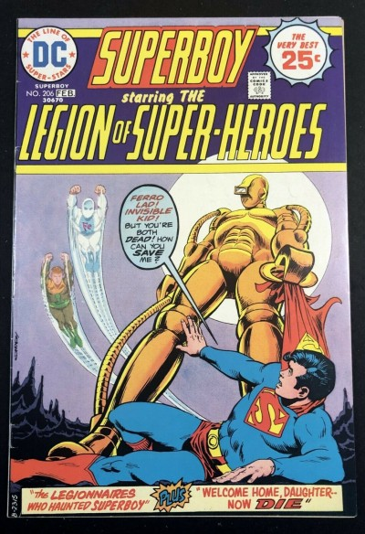 Superboy (1949) #206 VF- (7.5) starring Legion of Super-Heroes